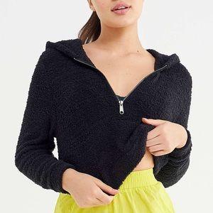 Marshmallow Half-Zip Hoodie Sweater